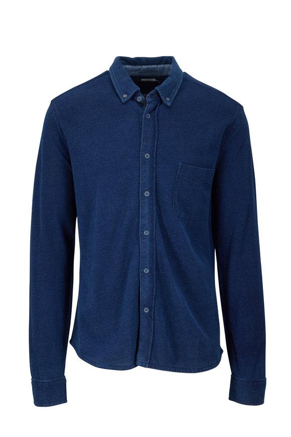 Faherty Brand Pacific Indigo Washed Cotton Button Down Shirt