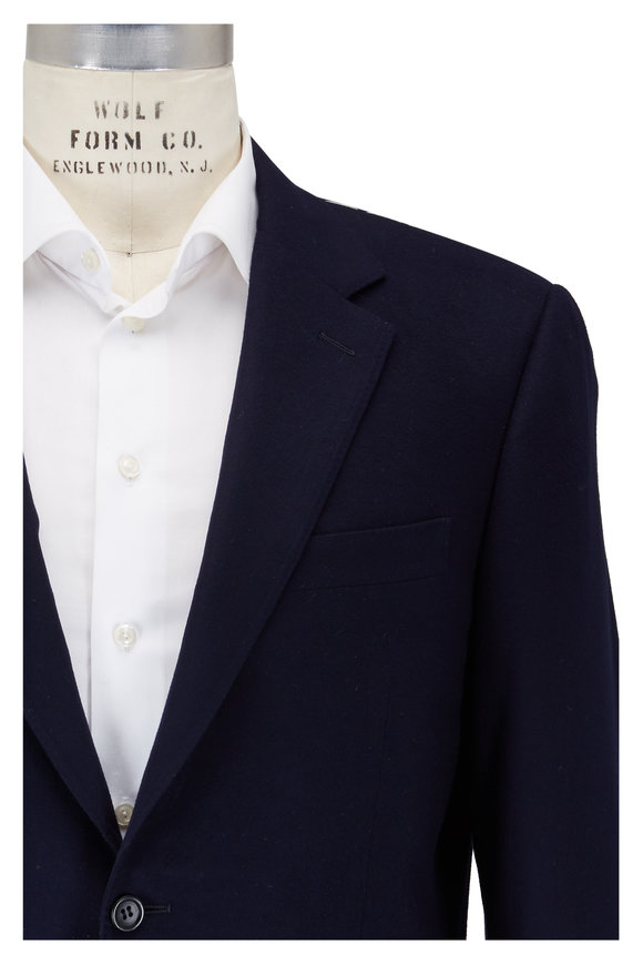 Canali Navy Blue Wool Sportcoat