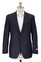 Canali - Navy Blue Pinstripe Wool Suit