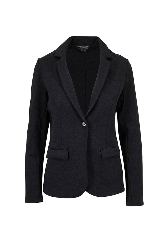 Majestic Anthracite Single Button Soft Touch Blazer
