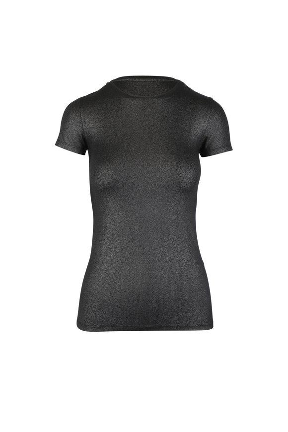 Majestic Black Metallic Superwashed T-Shirt