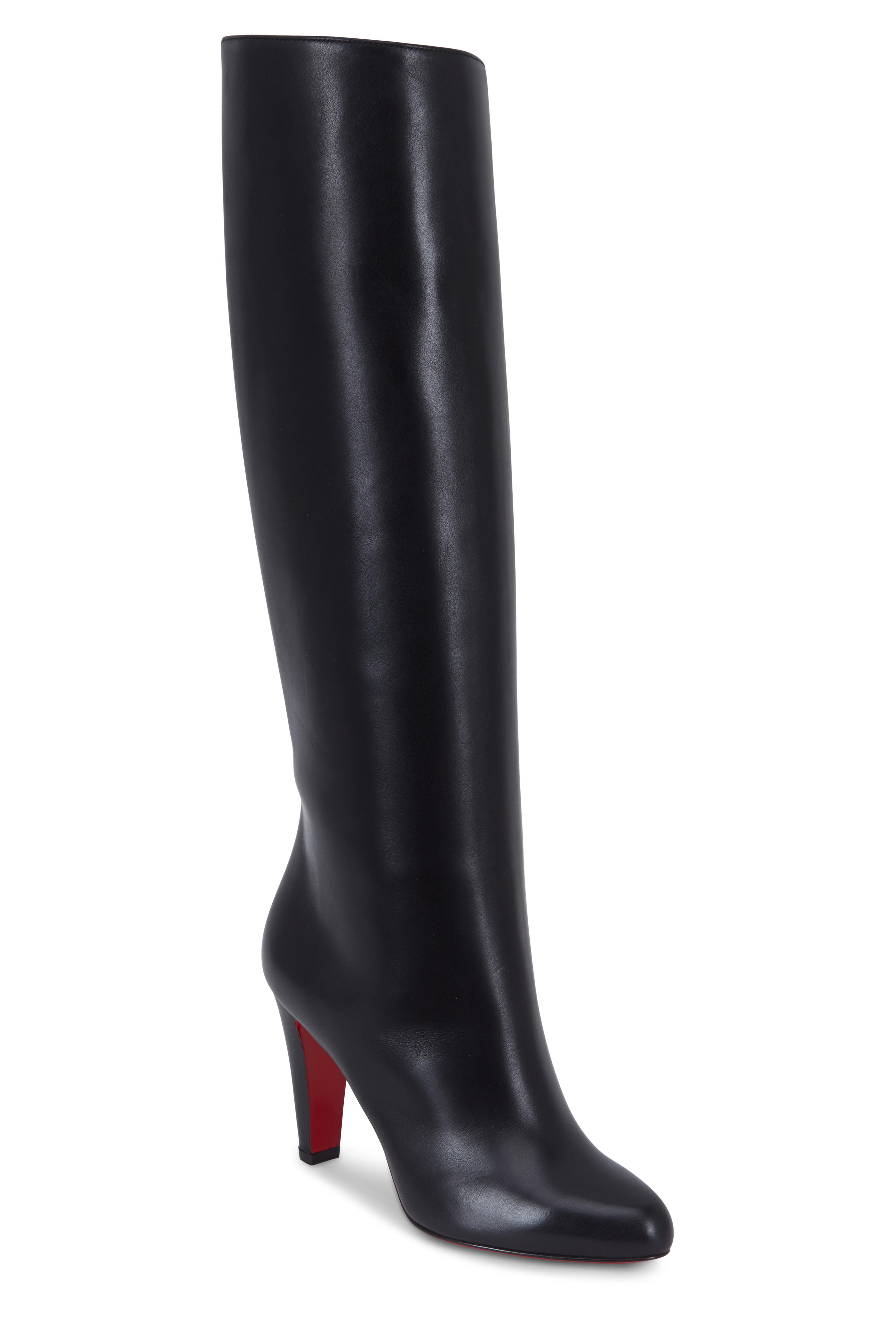 huge selection of 506d2 02d25 Christian Louboutin - Marmara Black Leather Tall Opera Boot ...