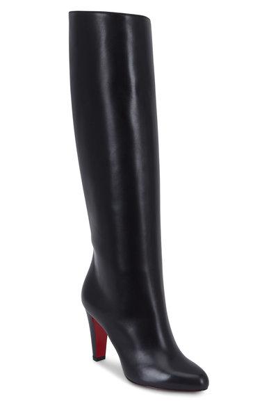 Christian Louboutin - Marmara Black Leather Tall Opera Boot, 85mm