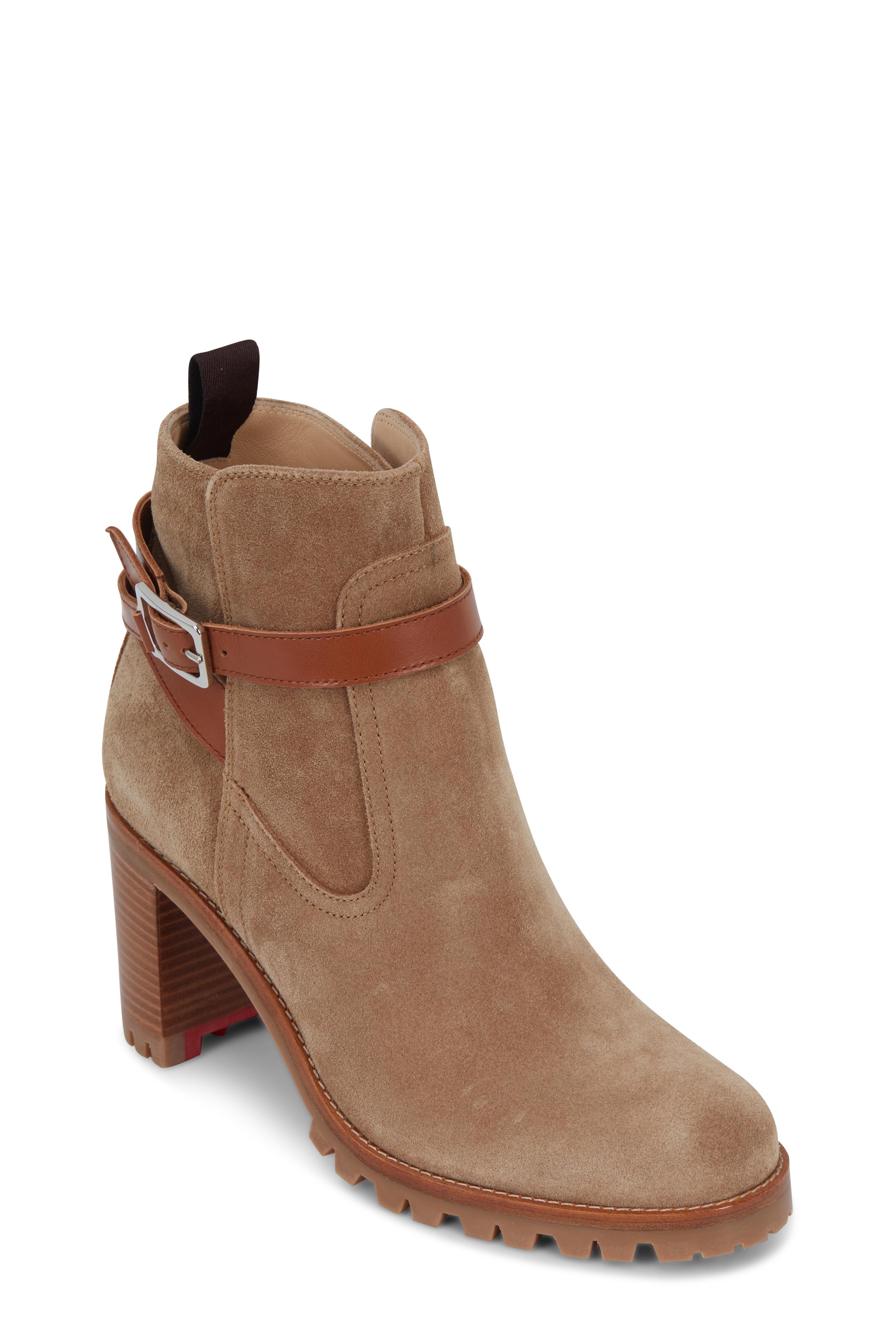 timeless design b3baa 5a8a4 Christian Louboutin - Trapeurdekoi Tan Suede Ankle Boot ...