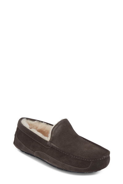 Ugg - Ascot Charcoal Gray Shearling Slipper