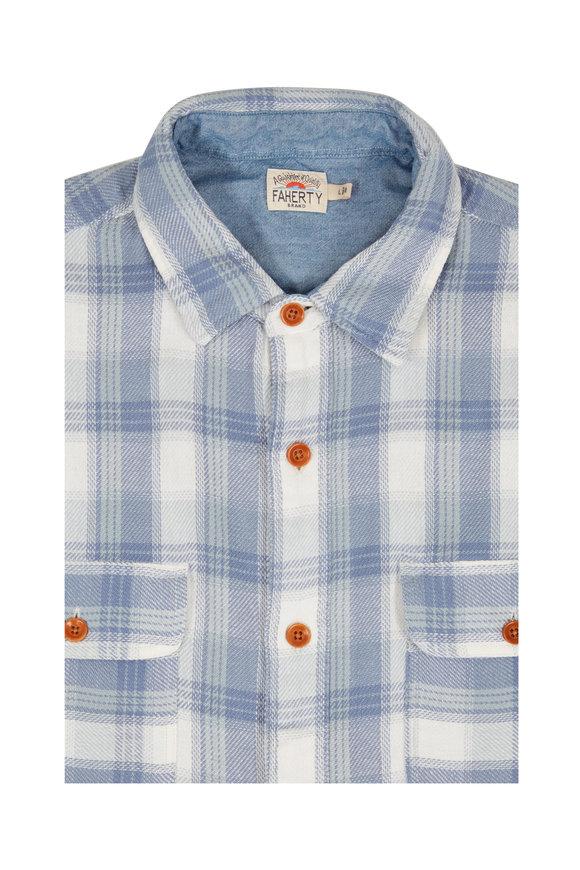 Faherty Brand Mesa Blue Plaid Sport Shirt