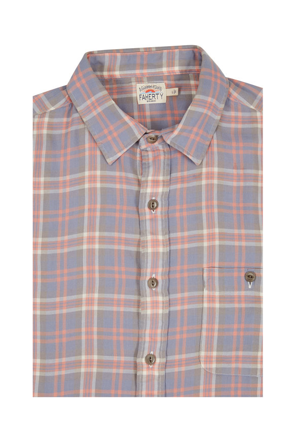 Faherty Brand Seaview Sunfaded Plaid Sport Shirt