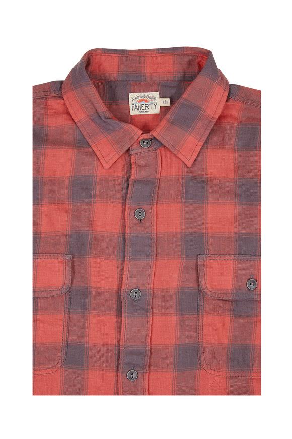 Faherty Brand Belmar Red Buffalo Plaid Sportshirt