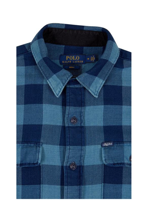 Polo Ralph Lauren Indigo Blue Buffalo Plaid Sportshirt