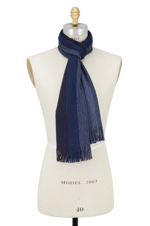 Chelsey Imports Blue Ombré Wool Scarf
