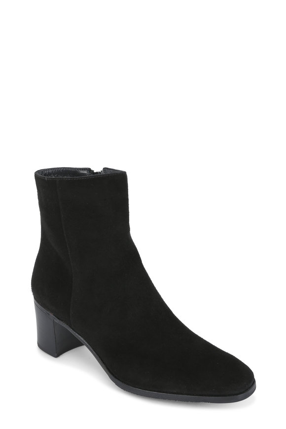 Gravati Black Suede Ankle Boot, 50mm