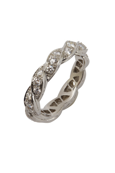 Oscar Heyman - Platinum Diamond Guard Ring