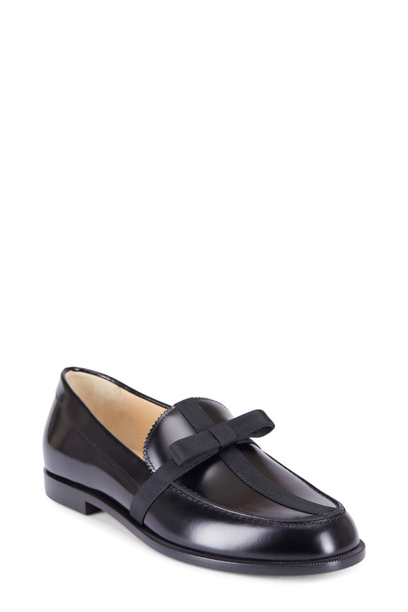Christian Louboutin Regalito Donna Black Leather Flat Loafer