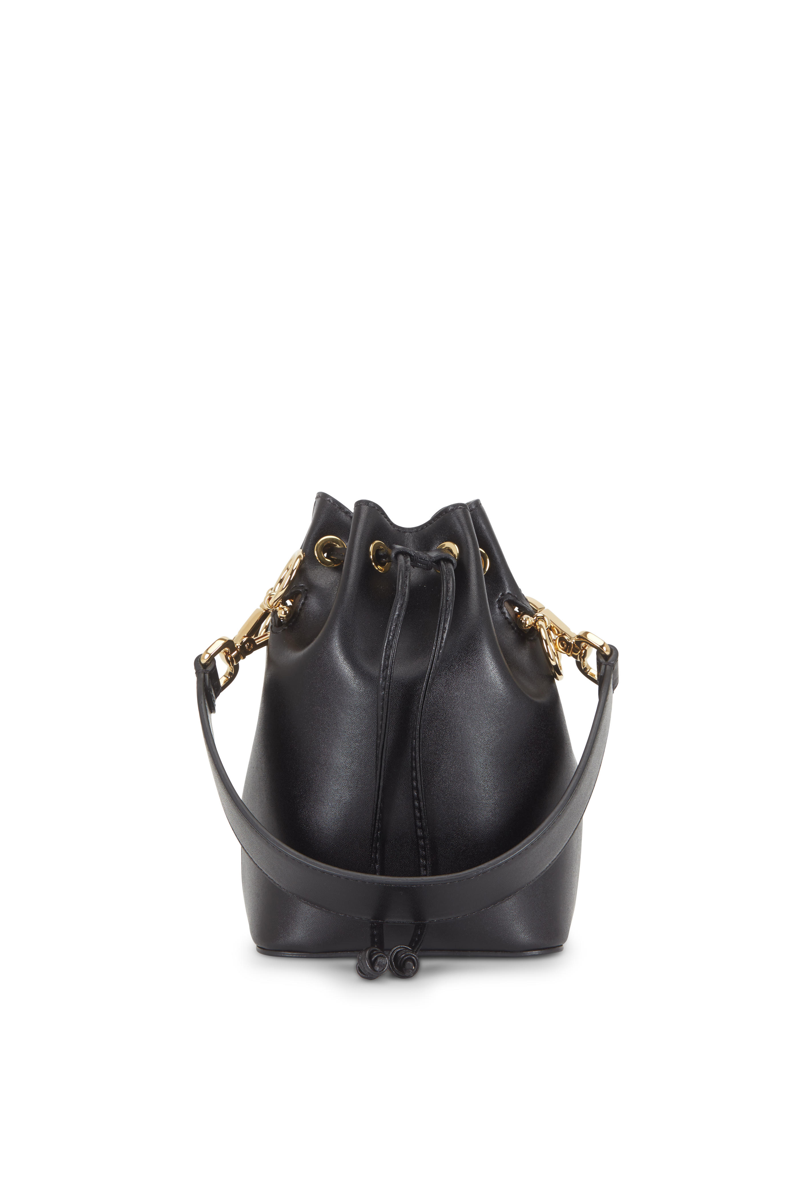 b216de887588 Fendi - Mon Tresor Black Leather Mini Bucket Bag