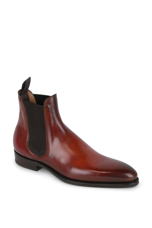 Gaziano & Girling Burnham Cognac Leather Chelsea Boot