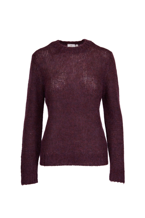 AG - Adriano Goldschmied Ansley Cardinal Mohair & Wool Crewneck Sweater