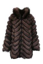 Viktoria Stass - Sable & Black Fox Fur Reversible Coat