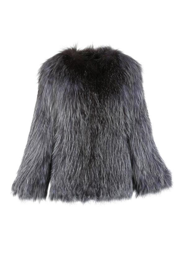 Viktoria Stass Silver Fox Knit Jacket