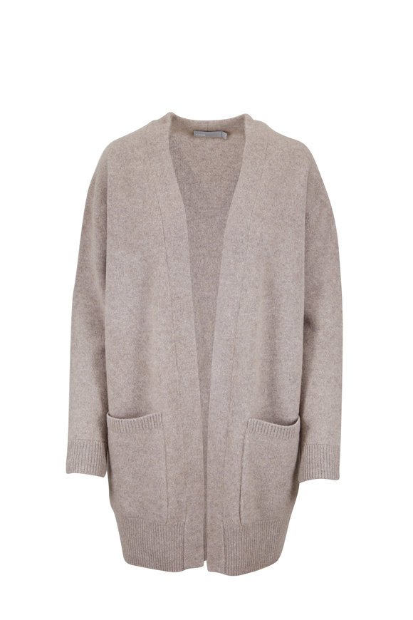 Vince Heather Taupe Patch Pocket Cardigan