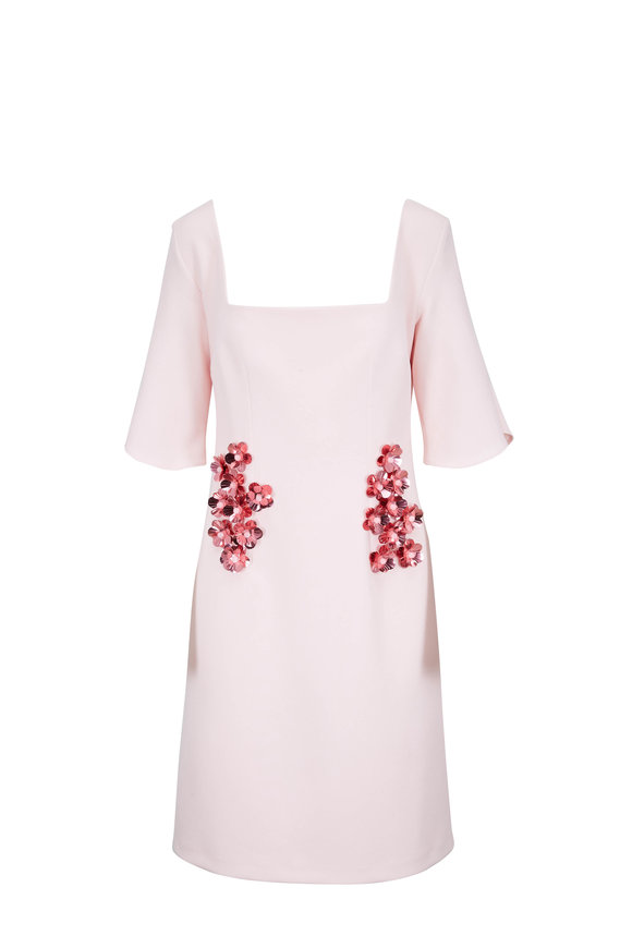 Safiyaa Pale Pink Flutter Sleeve Dress