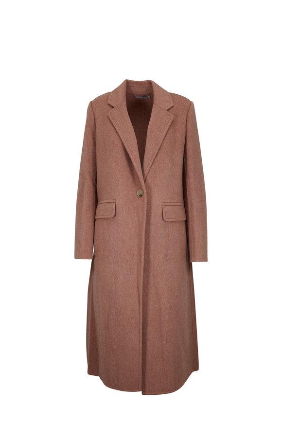 Vince Vintage Rose Wool & Alpaca Single Button Long Coat