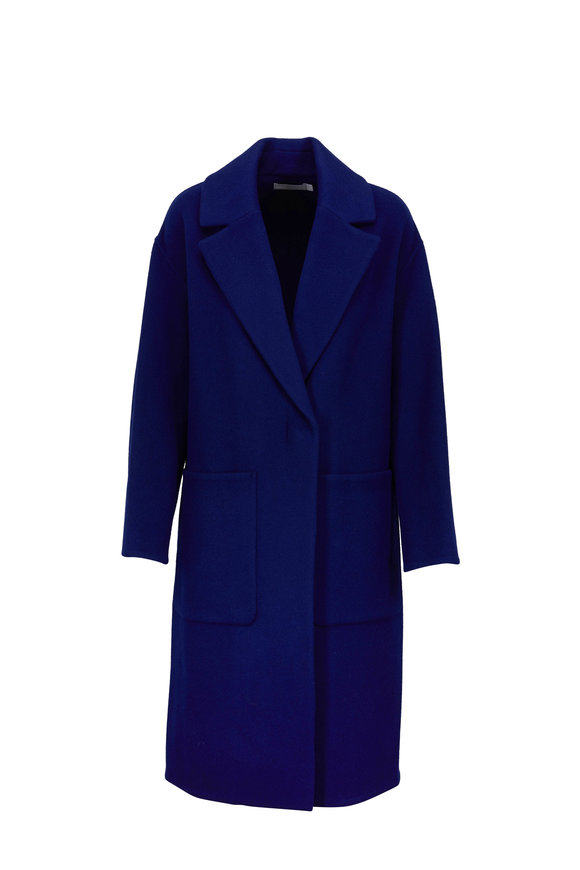 Vince Ink Wool Patch Pocket Car Coat