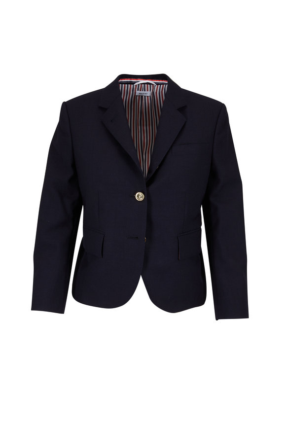 Thom Browne Classic Navy  Wool Two-Button Jacket