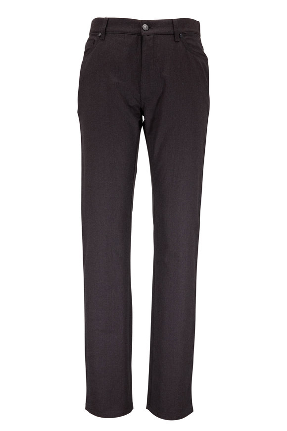 Ermenegildo Zegna Brown Wool Five-Pocket Pant