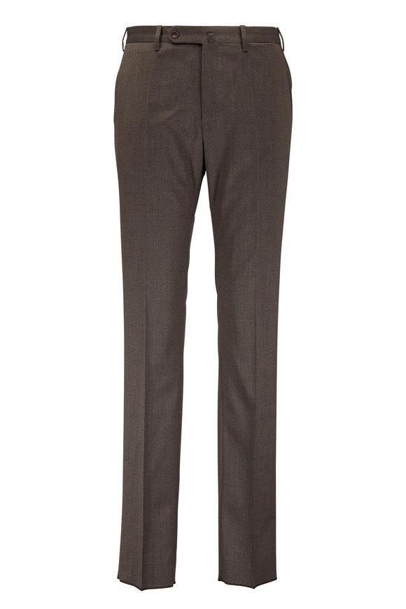 Incotex Brown Stretch Twill Pants
