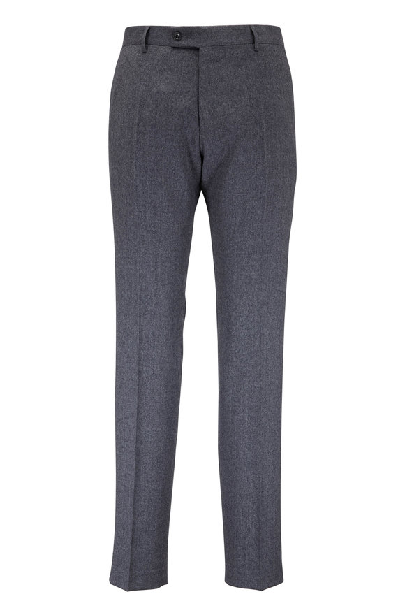 Maurizio Baldassari Light Gray Wool Dress Pant