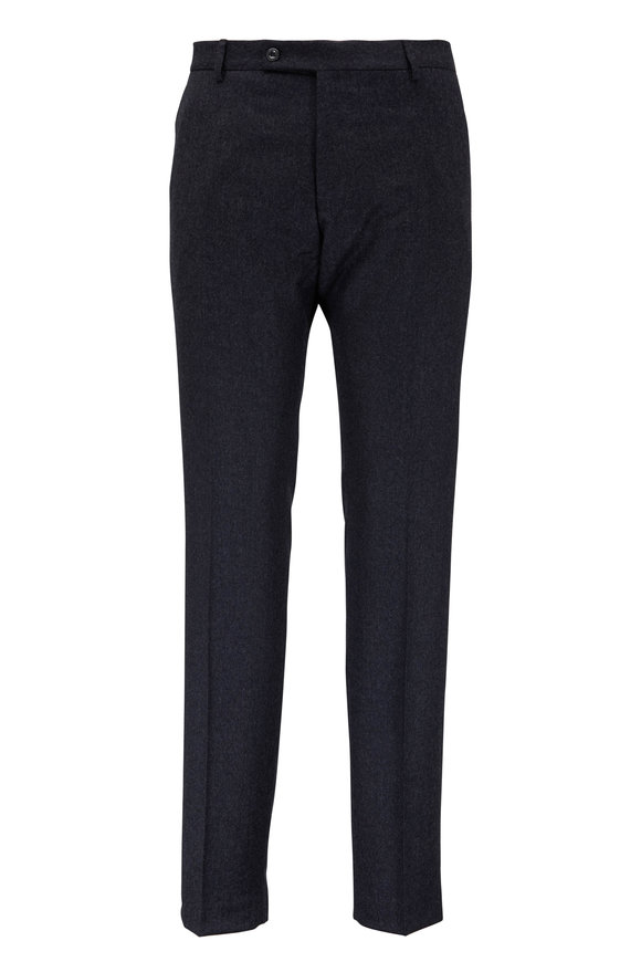 Maurizio Baldassari Charcoal Gray Wool Dress Pant