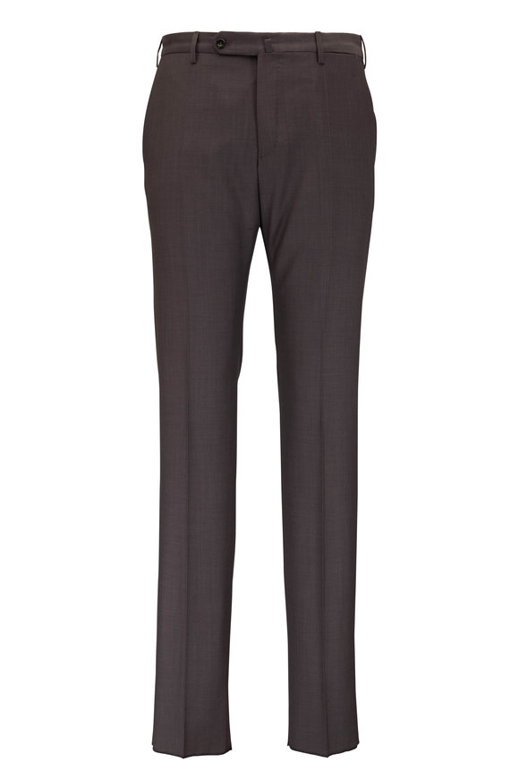 Incotex Beige Wool Micro Texture Pant