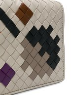 Bottega Veneta - Gray & Cement Intrecciato Artsy Chain Wallet