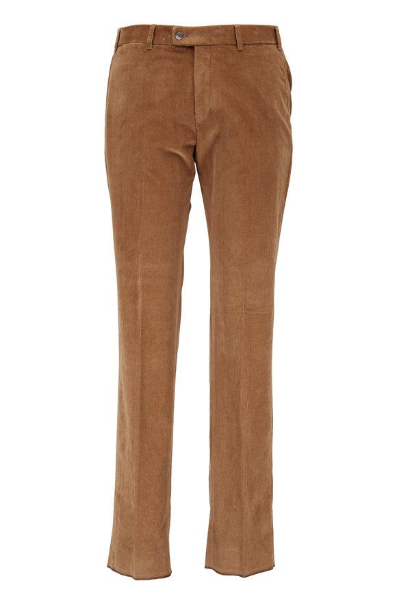 Hiltl Brown Corduroy Contemporary Fit Pant