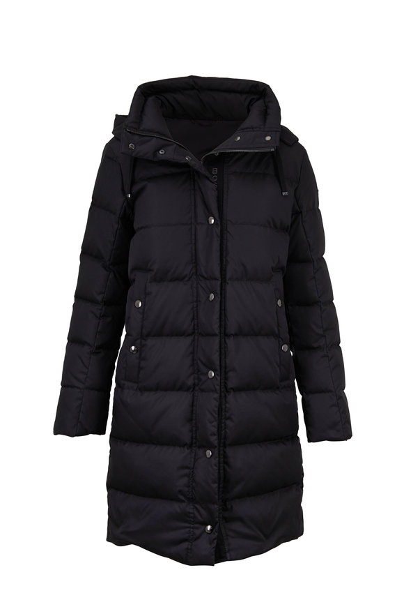 Bogner Nila Black Hooded Puffer Coat