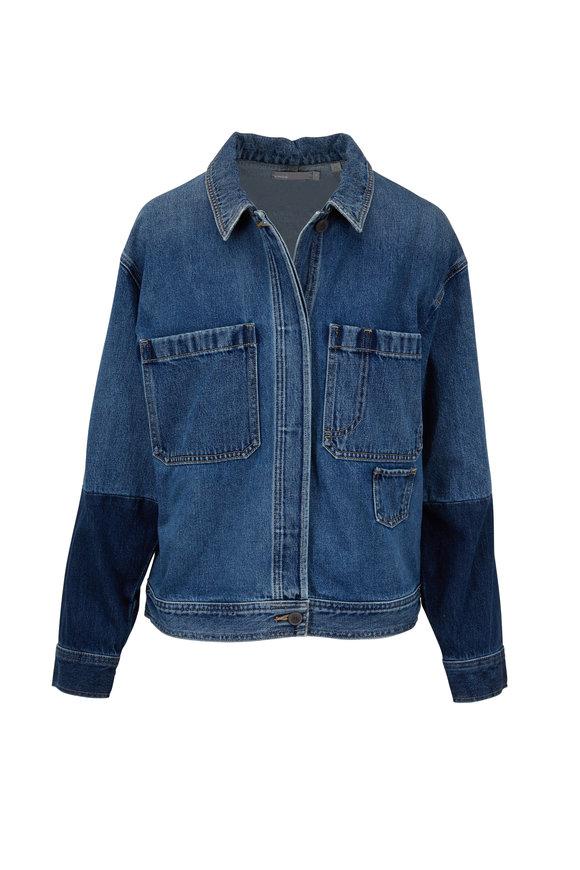 Vince Vintage Patch Pocket Denim Jacket