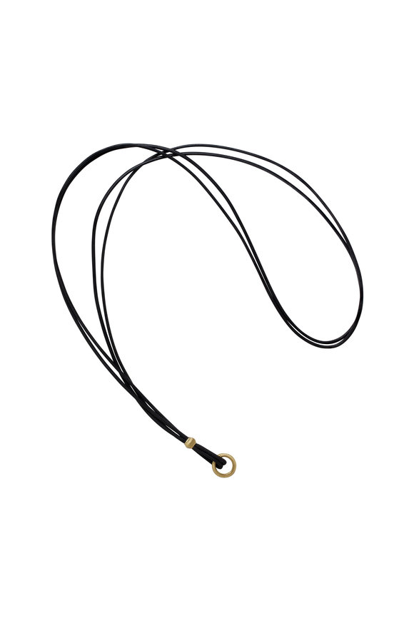 Paul Morelli Black Cord With Yellow Gold
