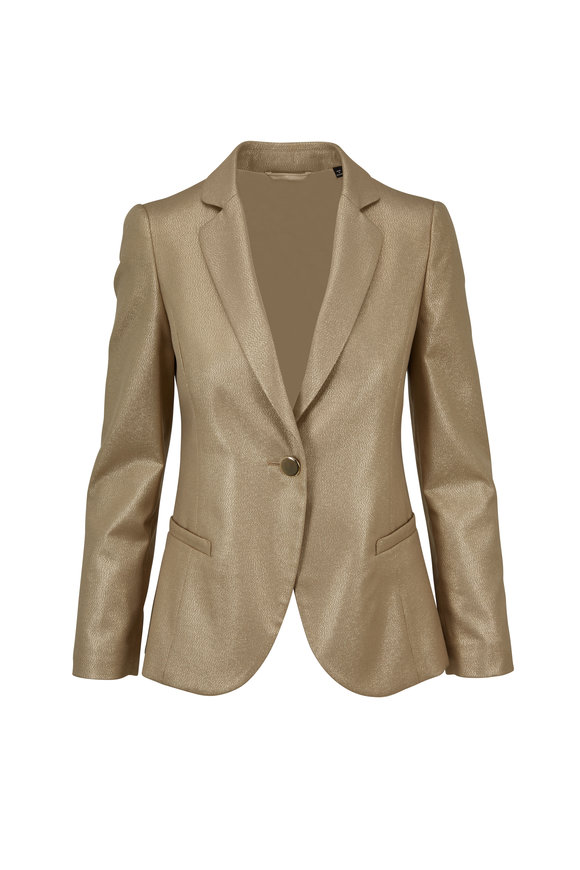 Emporio Armani Gold Lurex Single Button Blazer