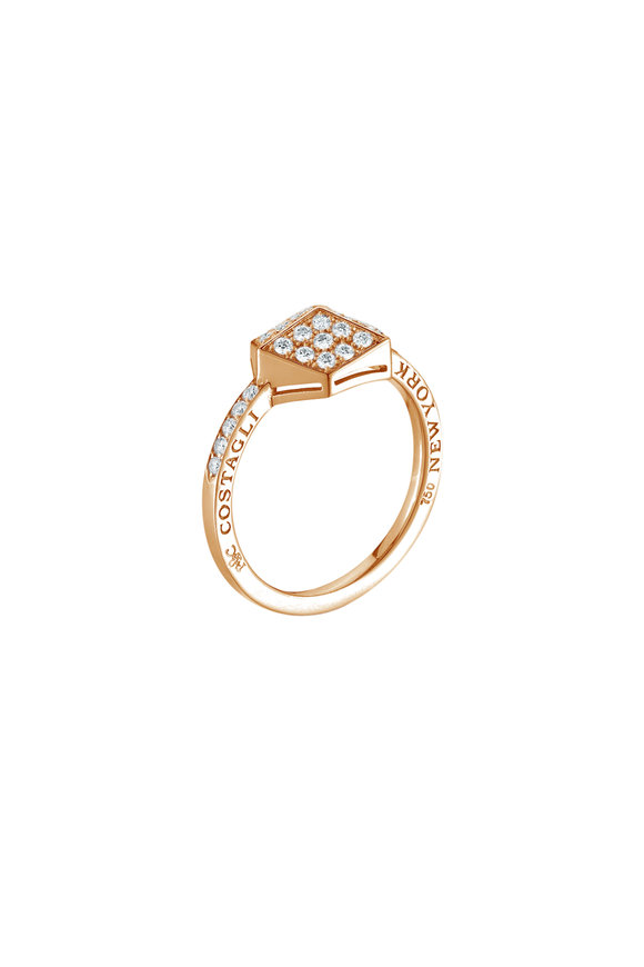 Paolo Costagli 18K Rose Gold Brillante Pavé Ring