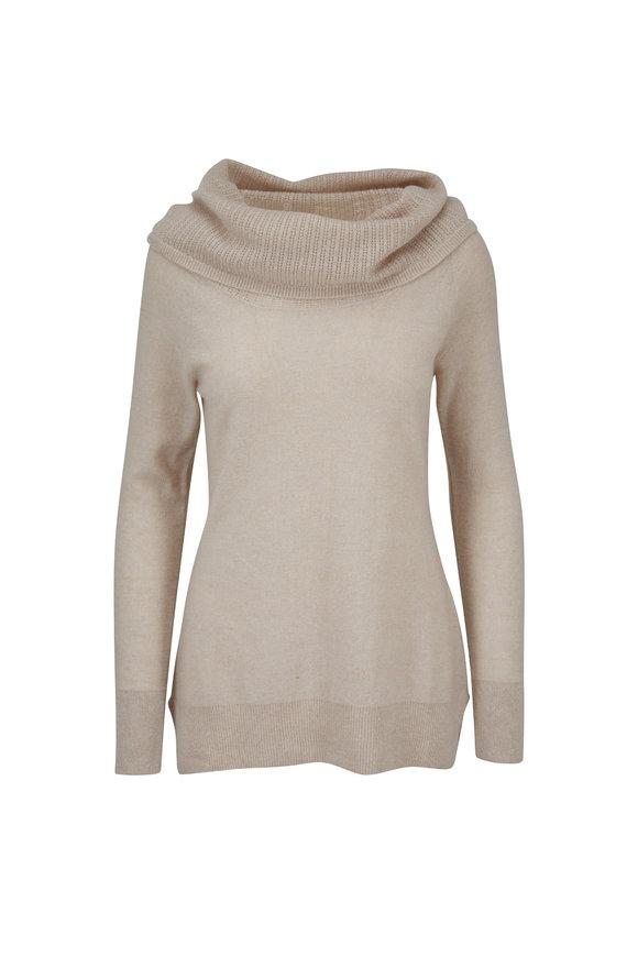 Raffi  Oat Cashmere Off-The-Shoulder Sweater