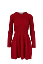Elizabeth & James - Tao Cayenne Ribbed Fit & Flare Dress