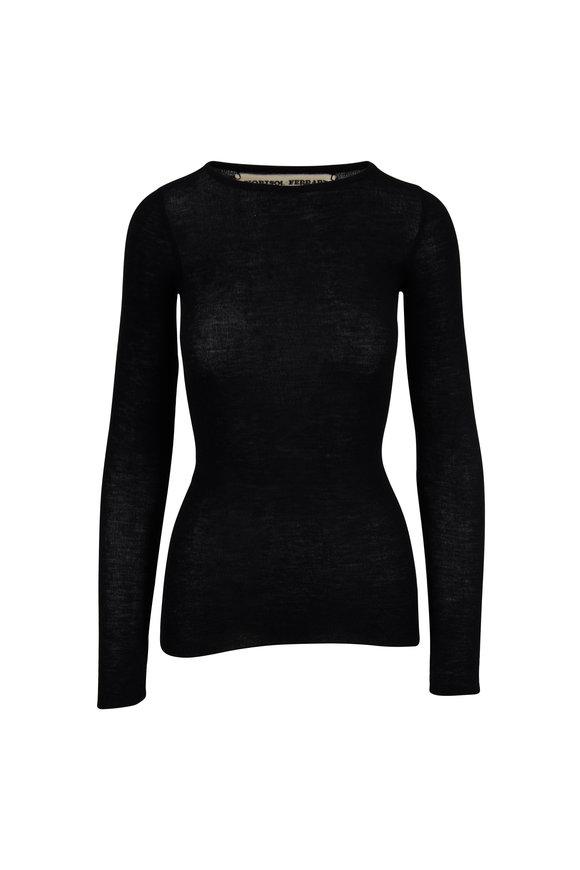 Norisol Ferrari Black Cashmere Sweater