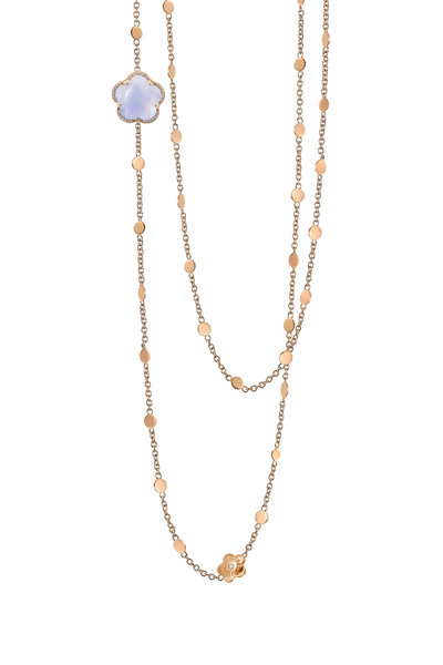 Pasquale Bruni - Rose Gold Blue Chalcedony & Diamond Necklace