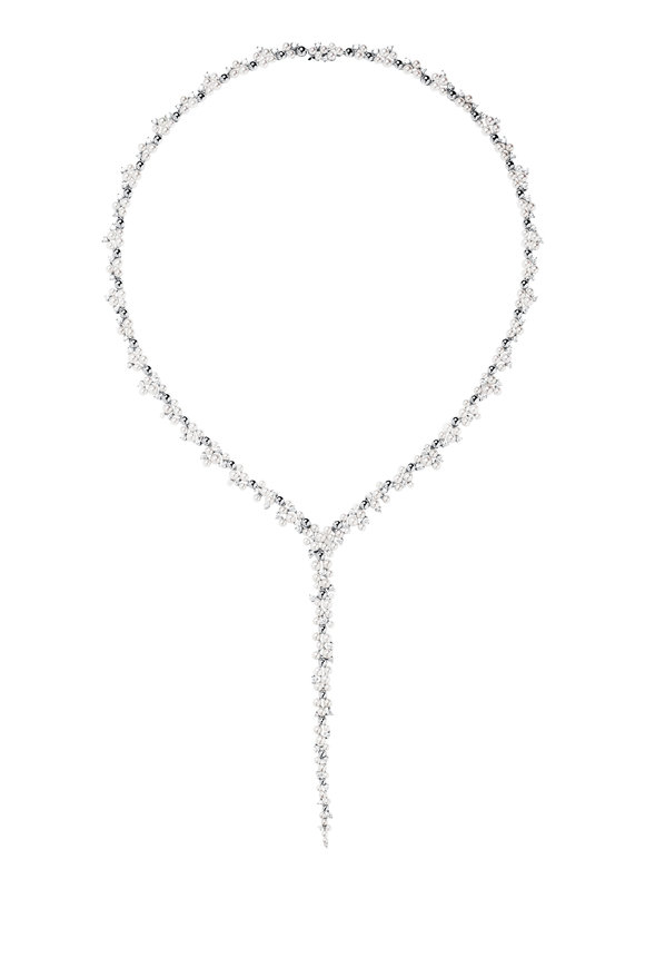 Paul Morelli 18K White Gold Lagrange Pearl Necklace