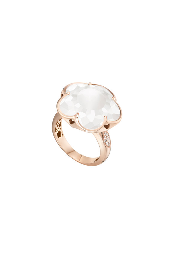 Pasquale Bruni 18K Rose Gold Bonton Milky Quartz Ring