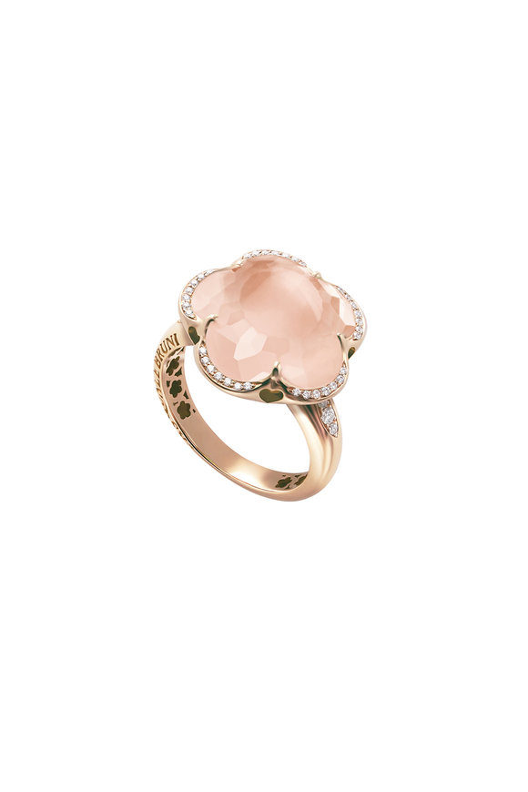 Pasquale Bruni 18K Rose Gold Bonton Rose Quartz Ring