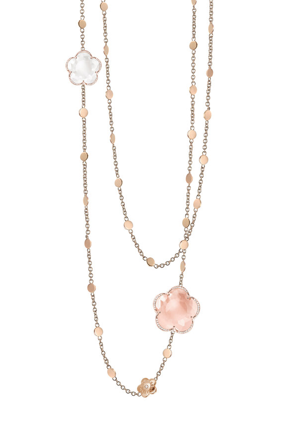 Pasquale Bruni 18K Rose Gold Bonton Quartz Necklace