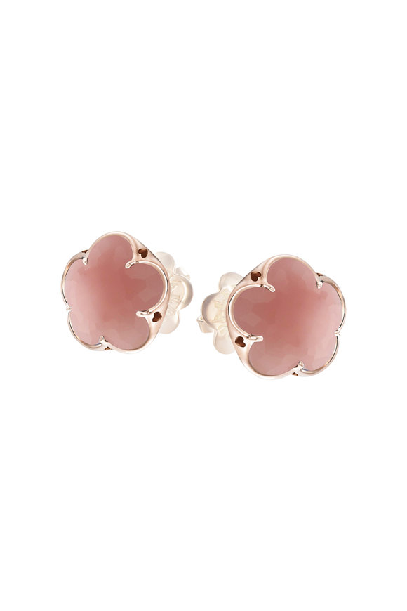 Pasquale Bruni 18K Rose Gold Bonton Pink Chalcedony Earrings