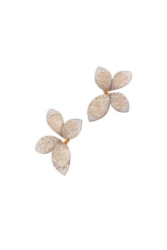Pasquale Bruni 18K Rose Gold Giardini Segreti Flower Earrings