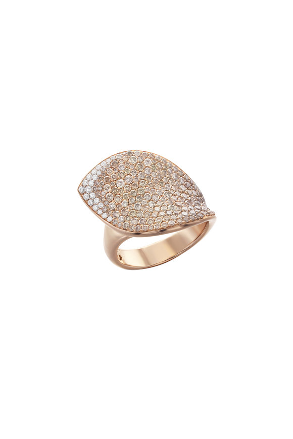 Pasquale Bruni 18K Rose Gold Giardini Segretti Diamond Ring
